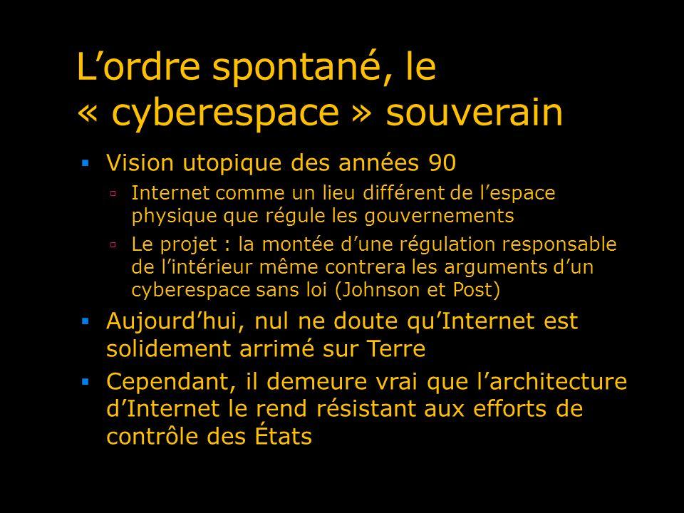 L'ordre spontané, le « cyberespace » souverain
