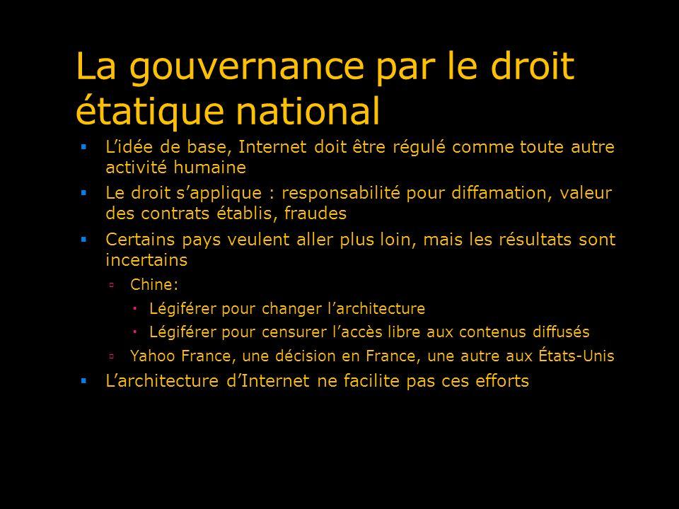 La gouvernance par le droit étatique national