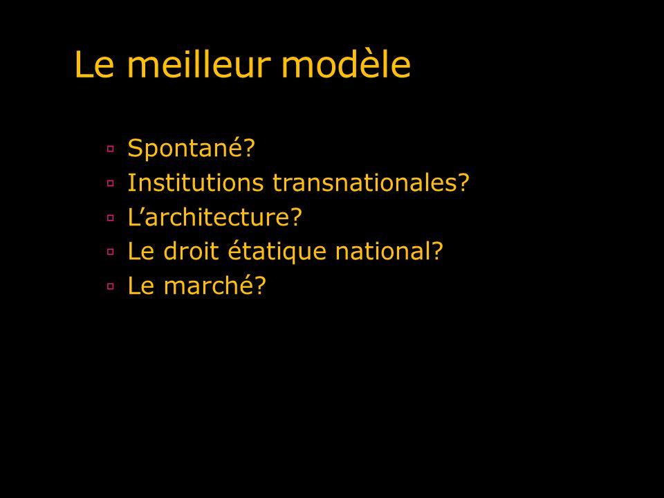 Le meilleur modèle Spontané Institutions transnationales