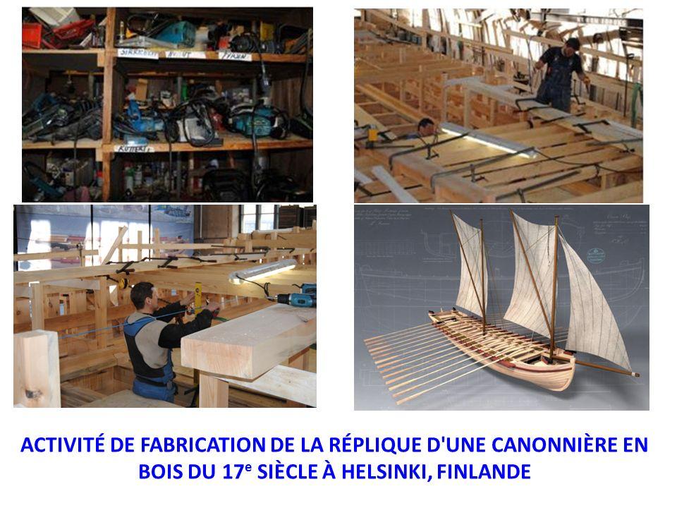 ACTIVITÉ DE FABRICATION DE LA RÉPLIQUE D UNE CANONNIÈRE EN BOIS DU 17e SIÈCLE À HELSINKI, FINLANDE