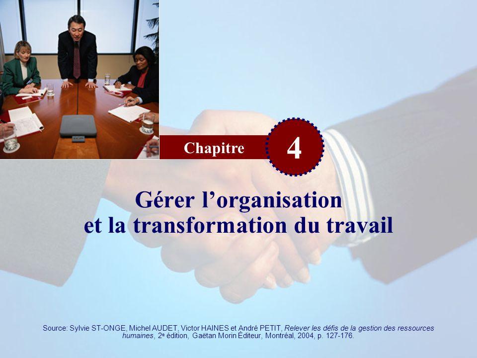 Gérer l'organisation et la transformation du travail