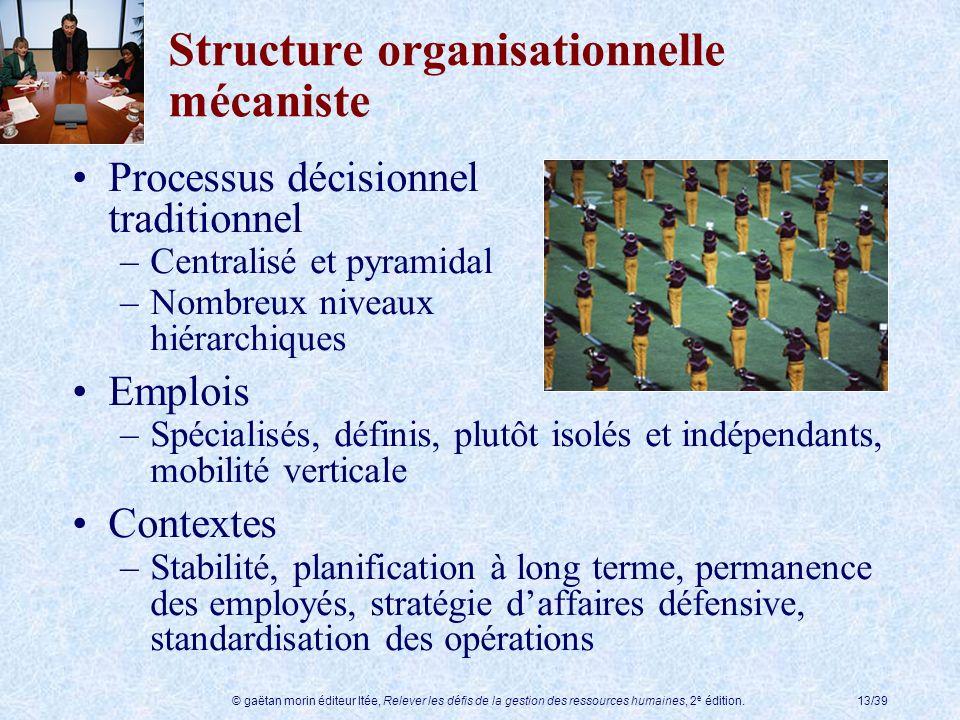Structure organisationnelle mécaniste
