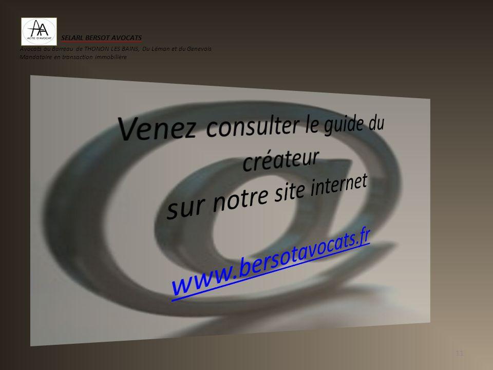 SELARL BERSOT AVOCATS Avocats au Barreau de THONON LES BAINS, Du Léman et du Genevois. Mandataire en transaction immobilière.