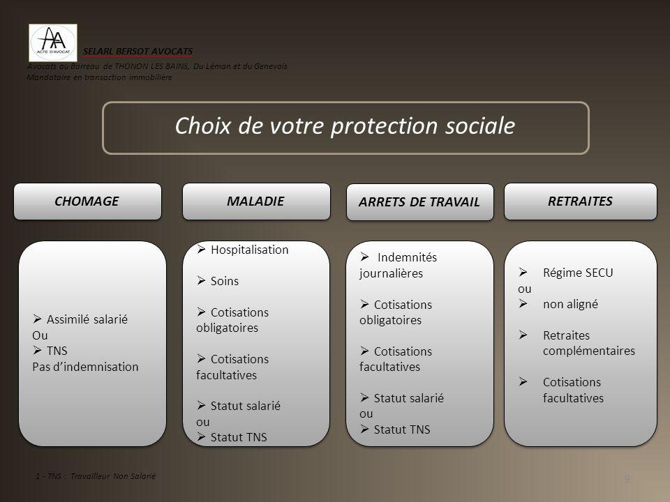 Choix de votre protection sociale