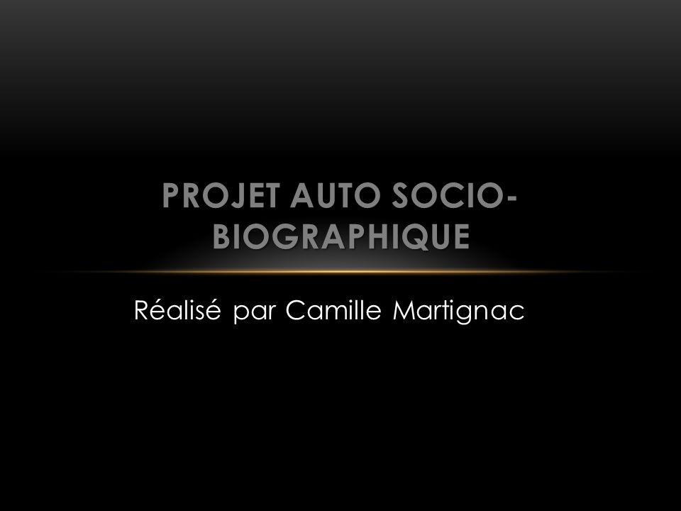 Projet auto socio-biographique