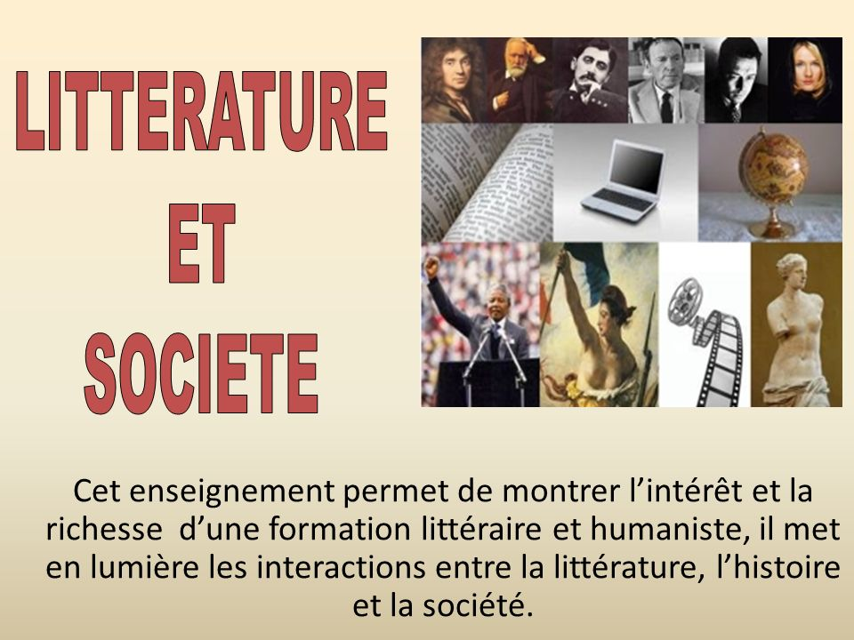 LITTERATURE ET SOCIETE