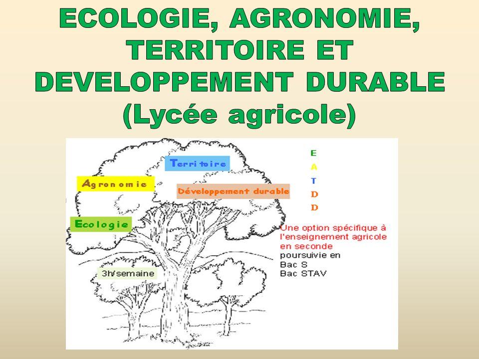 TERRITOIRE ET DEVELOPPEMENT DURABLE (Lycée agricole)