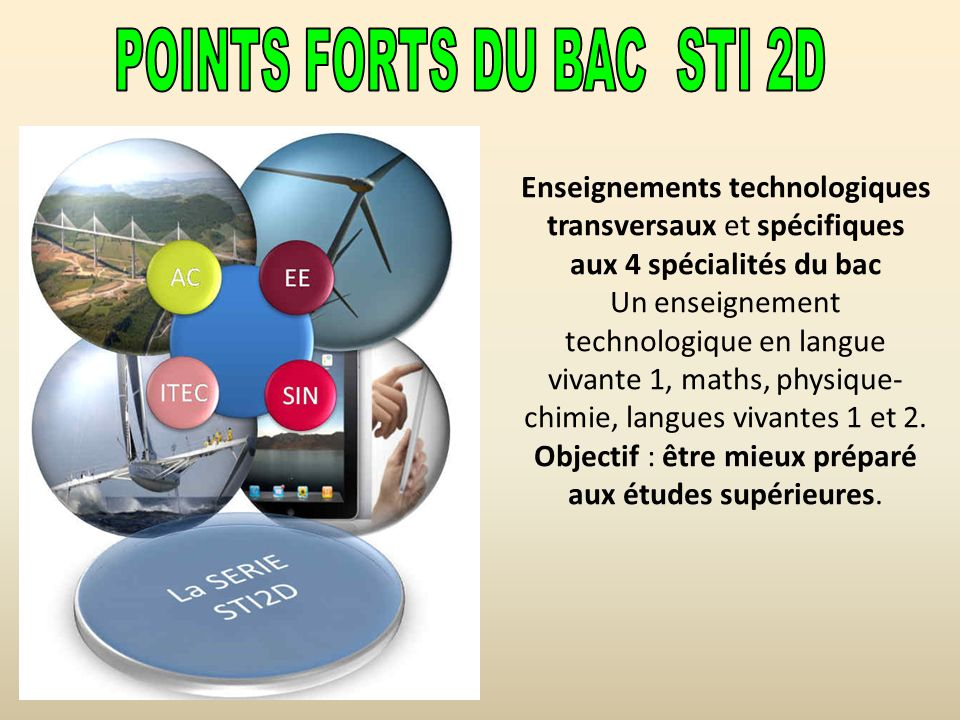 POINTS FORTS DU BAC STI 2D