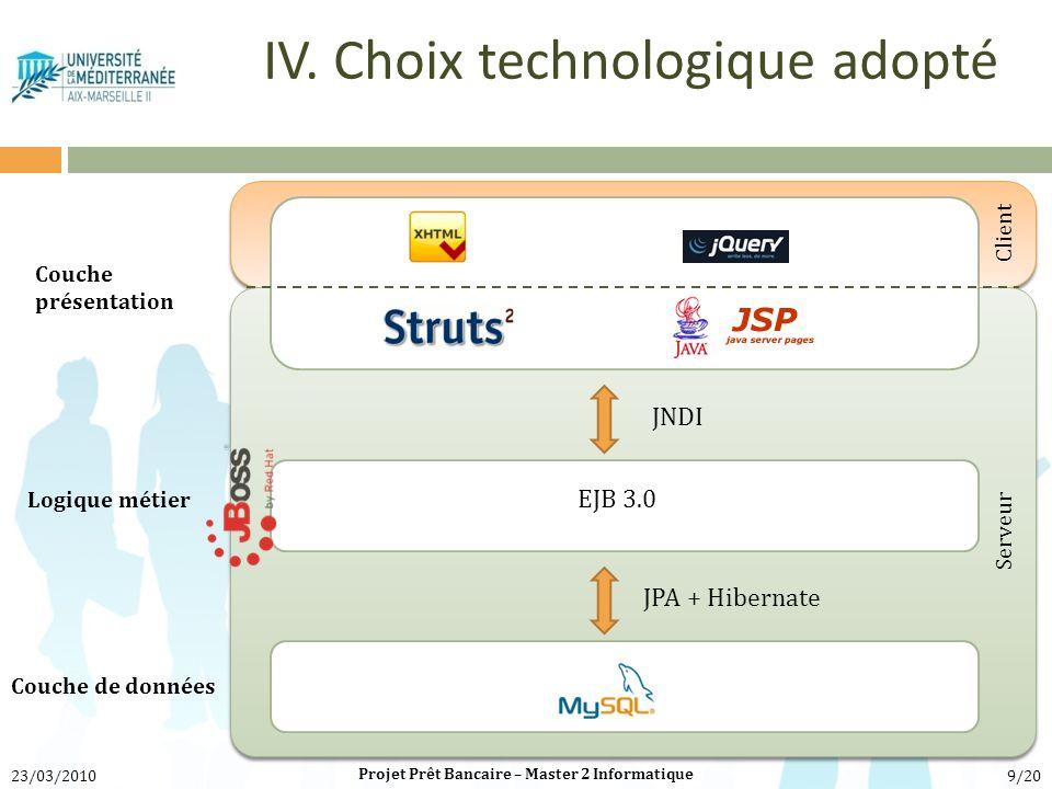 IV. Choix technologique adopté