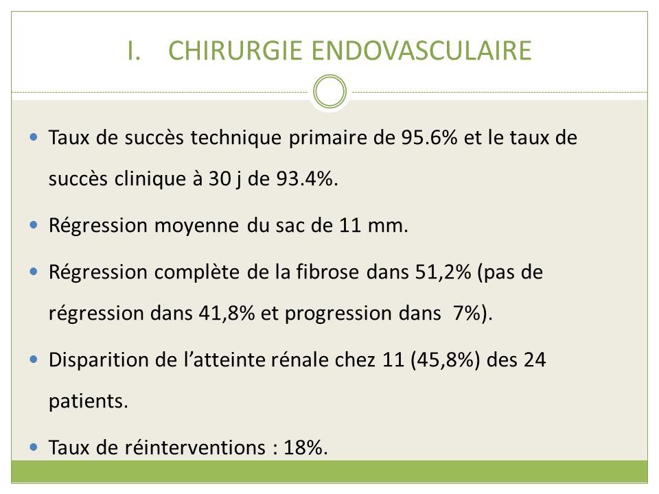 CHIRURGIE ENDOVASCULAIRE