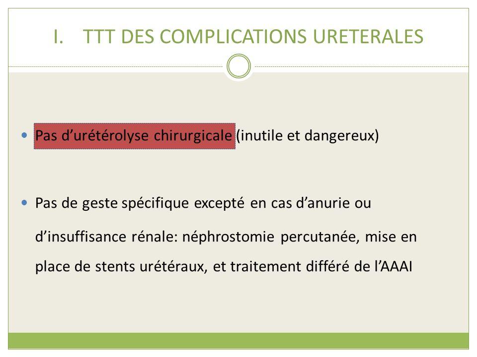 TTT DES COMPLICATIONS URETERALES