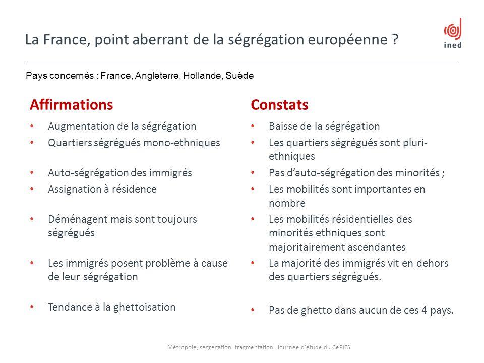 La France, point aberrant de la ségrégation européenne