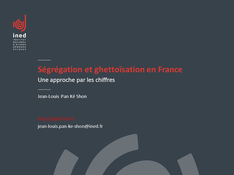 Ségrégation et ghettoïsation en France