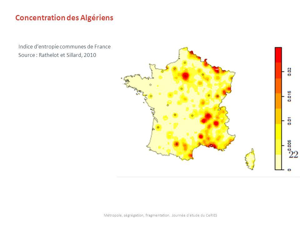 Concentration des Algériens