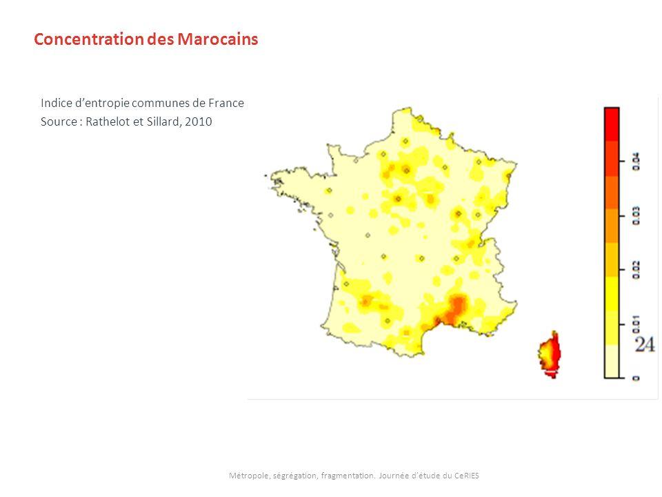 Concentration des Marocains