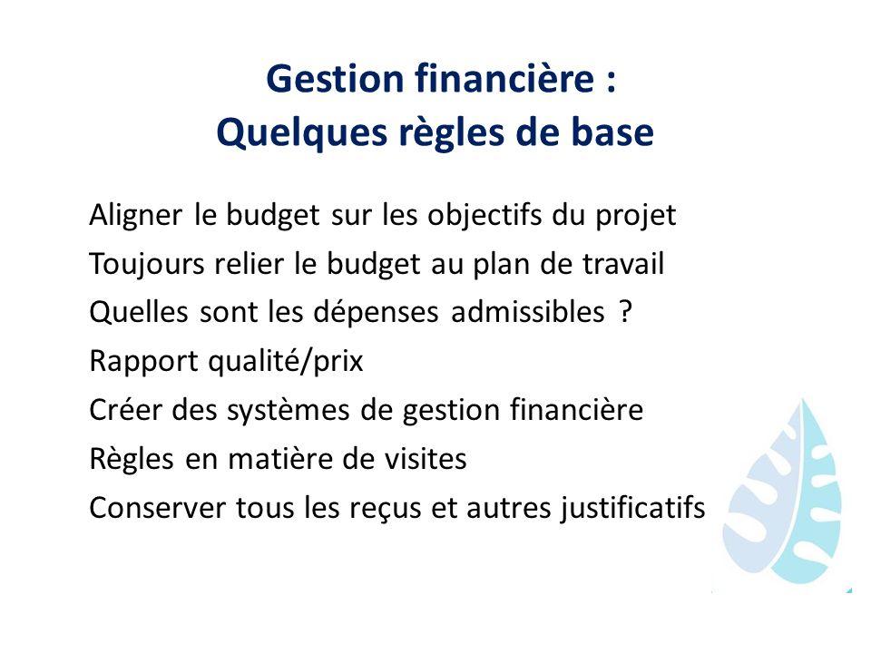 Gestion financière : Quelques règles de base