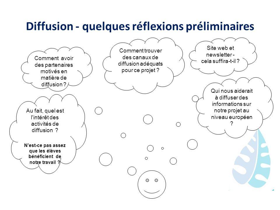 Diffusion - quelques réflexions préliminaires