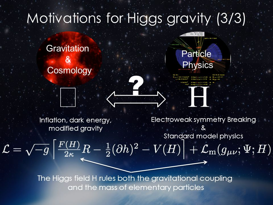 Motivations for Higgs gravity (3/3)