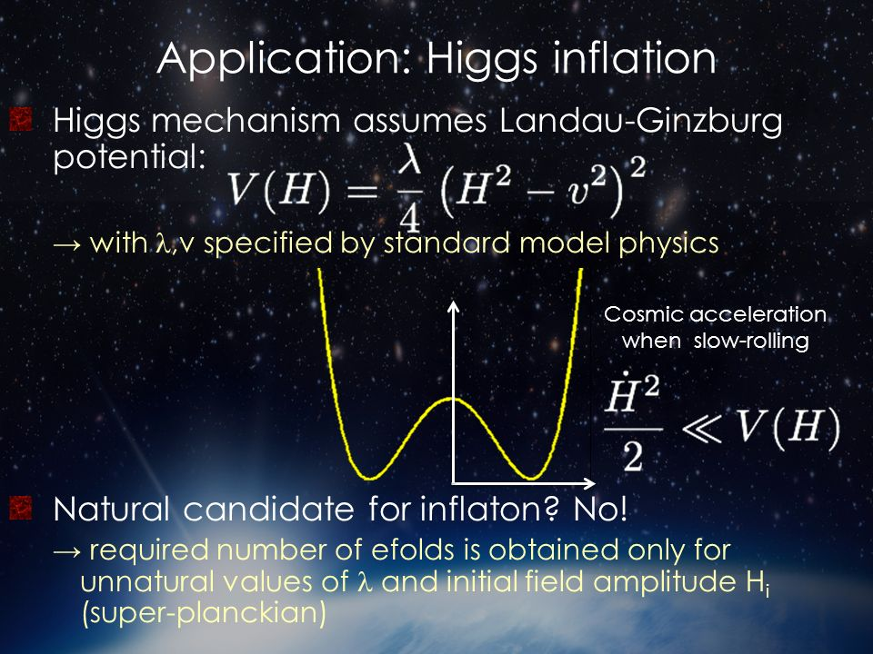 Application: Higgs inflation