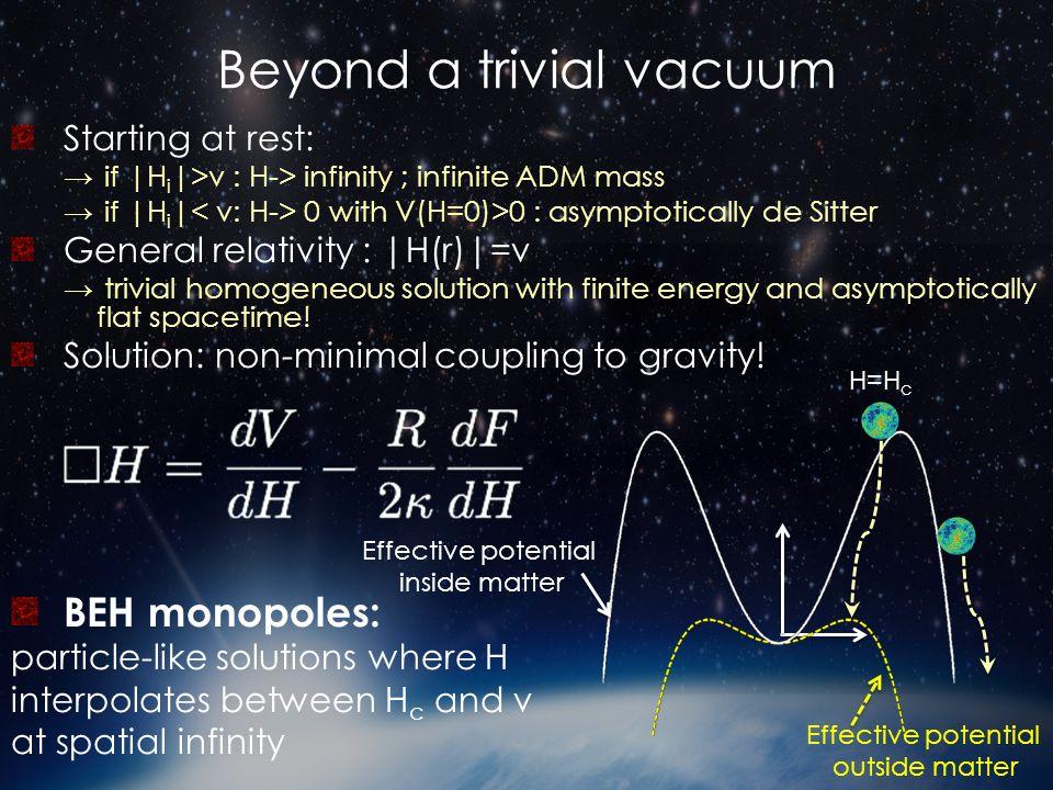 Beyond a trivial vacuum