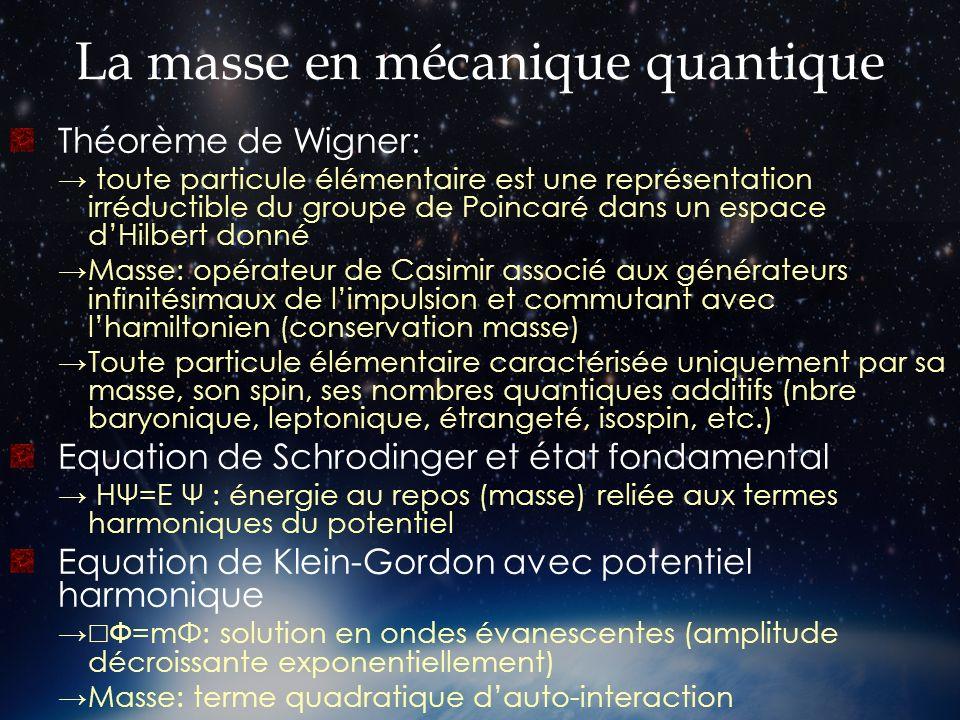 La masse en mécanique quantique