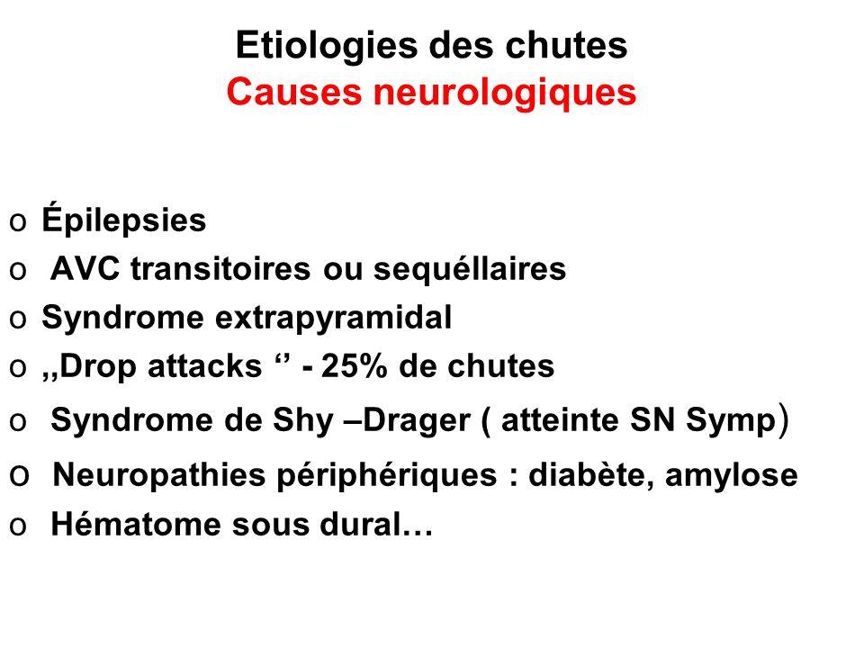 Etiologies des chutes Causes neurologiques