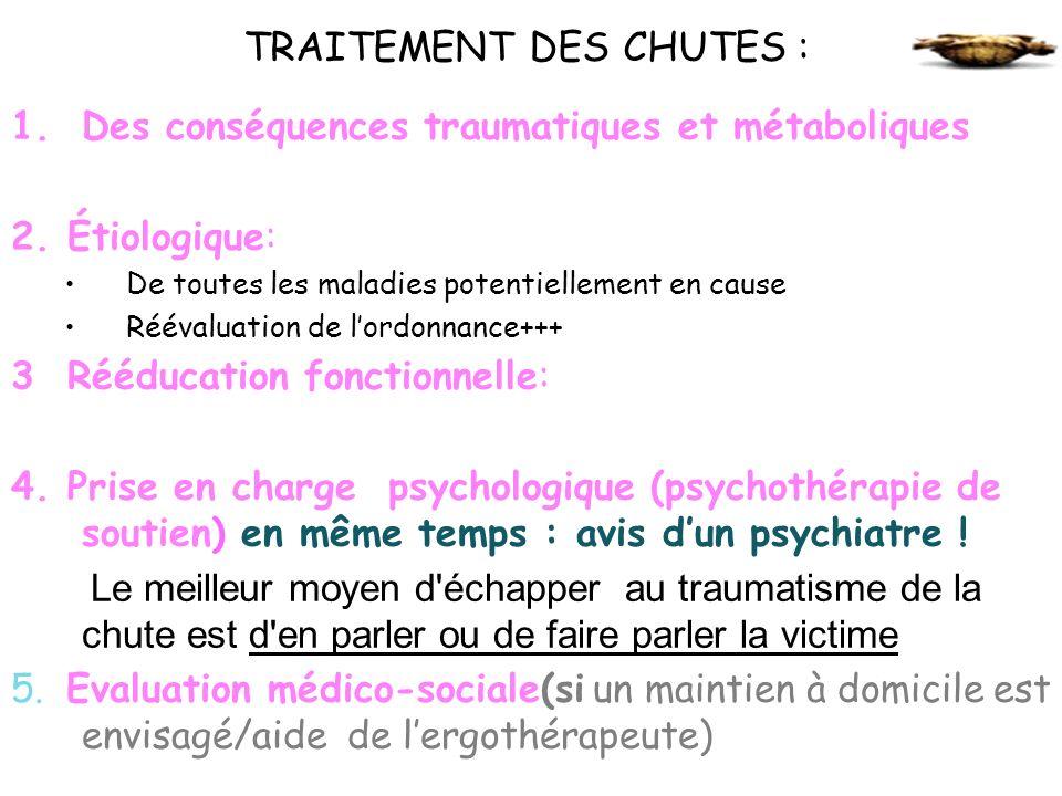 TRAITEMENT DES CHUTES :