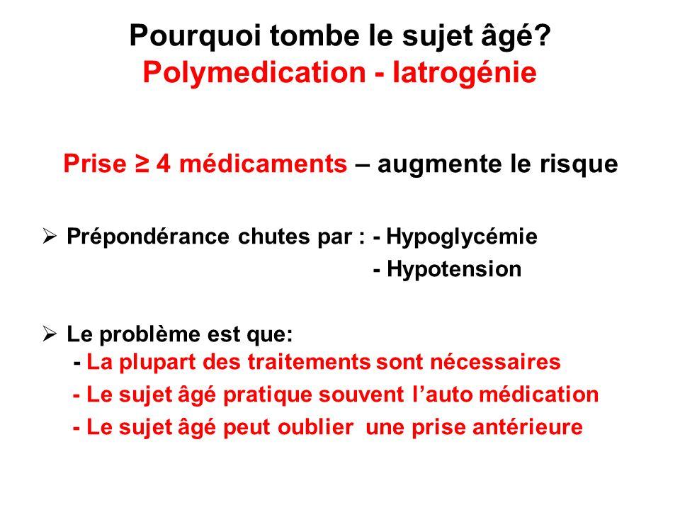 Pourquoi tombe le sujet âgé Polymedication - Iatrogénie