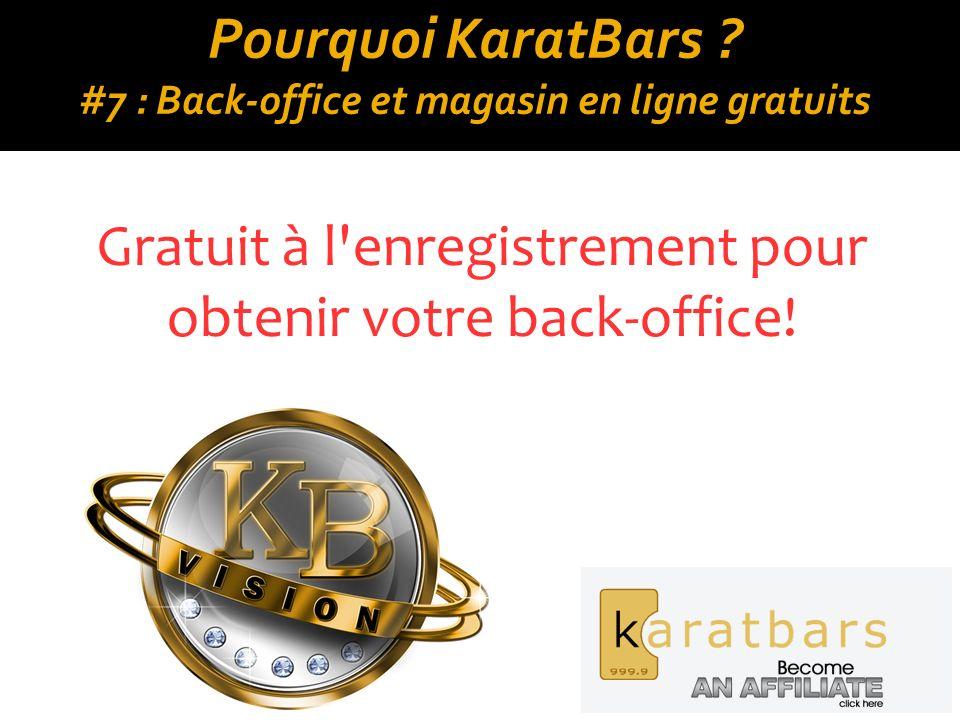 Pourquoi KaratBars #7 : Back-office et magasin en ligne gratuits