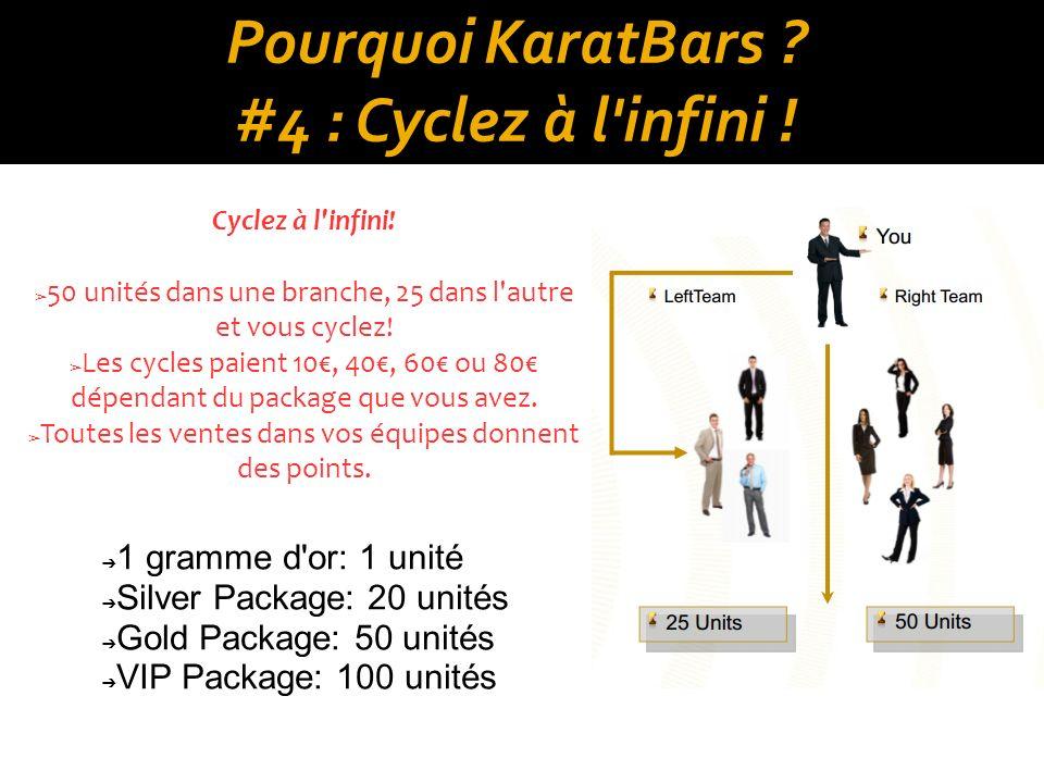 Pourquoi KaratBars #4 : Cyclez à l infini !