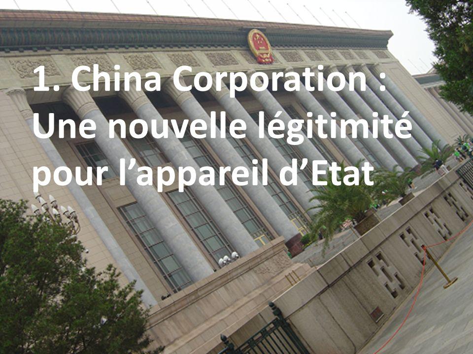 1. China Corporation : Une nouvelle légitimité pour l'appareil d'Etat
