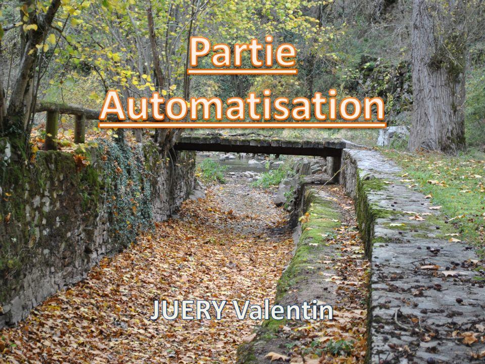 Partie Automatisation
