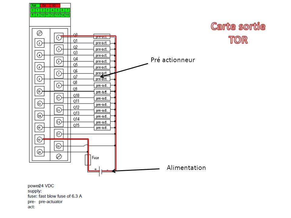 Carte sortie TOR Pré actionneur Alimentation