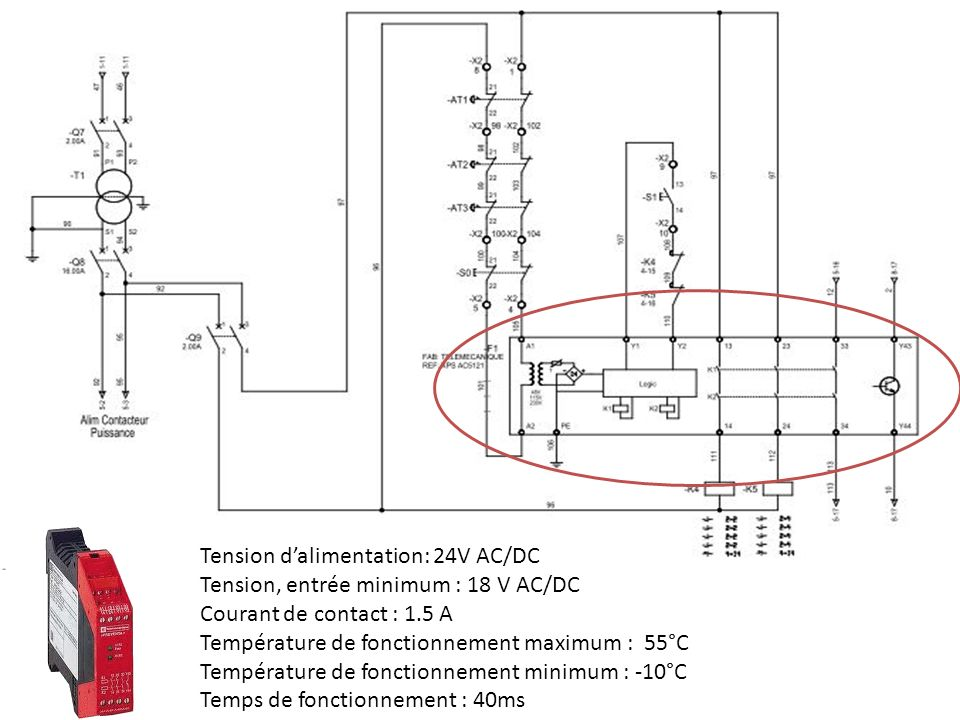 Tension d'alimentation: 24V AC/DC