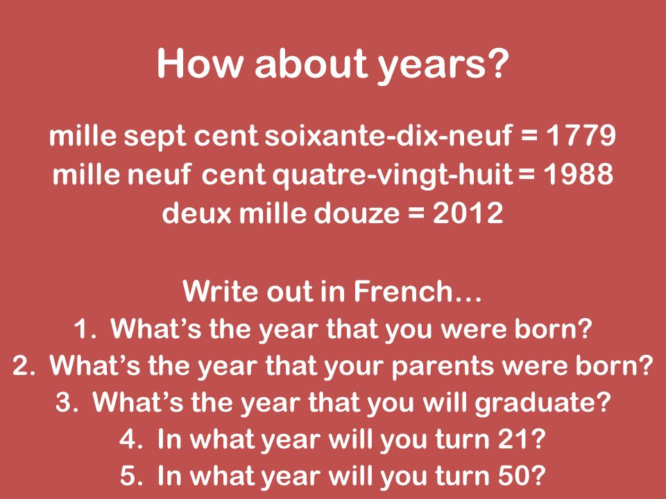How about years mille sept cent soixante-dix-neuf = 1779