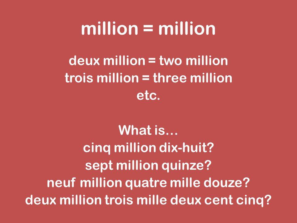 million = million