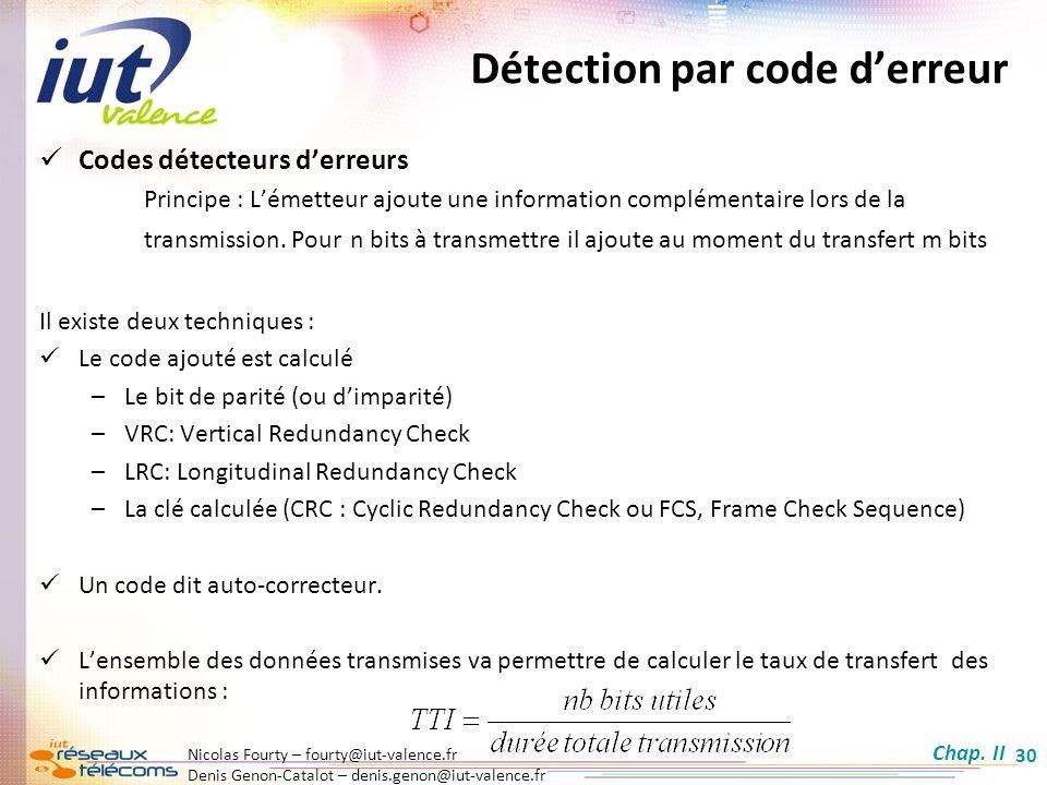 Détection par code d'erreur