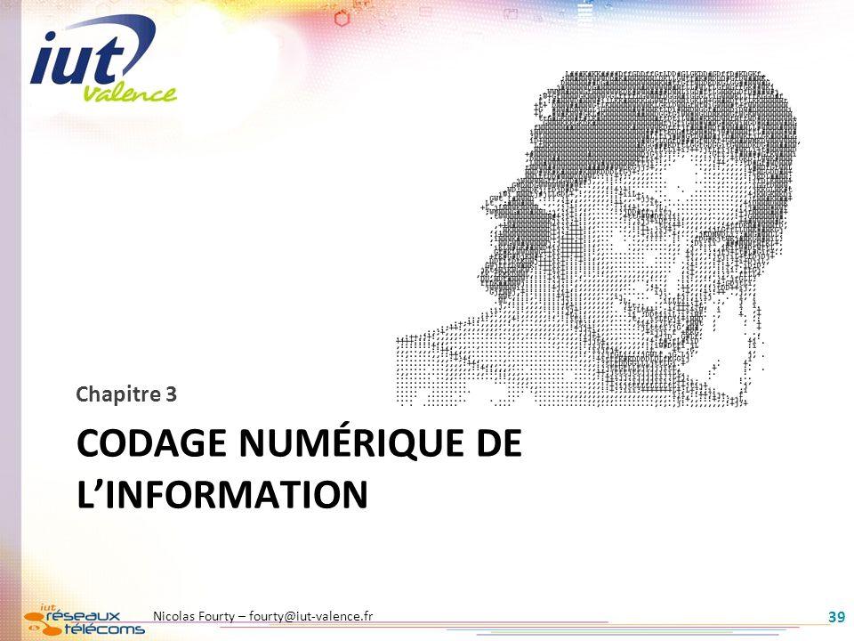 Codage numérique de l'information