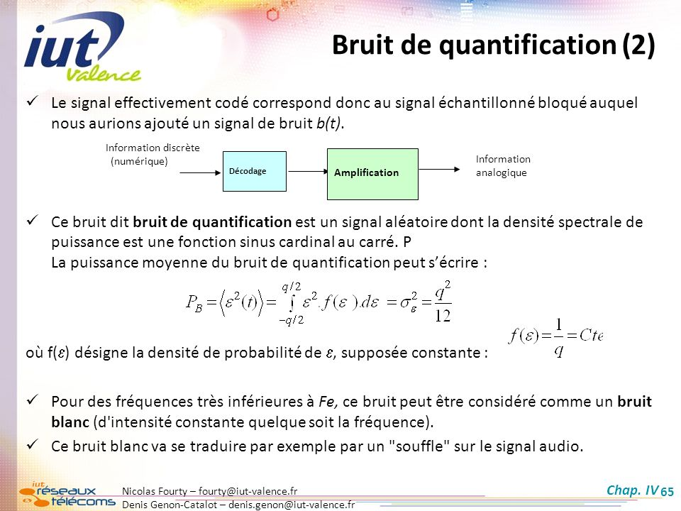 Bruit de quantification (2)