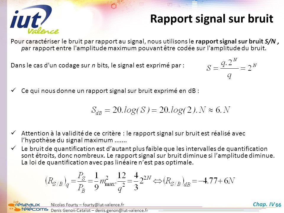 Rapport signal sur bruit