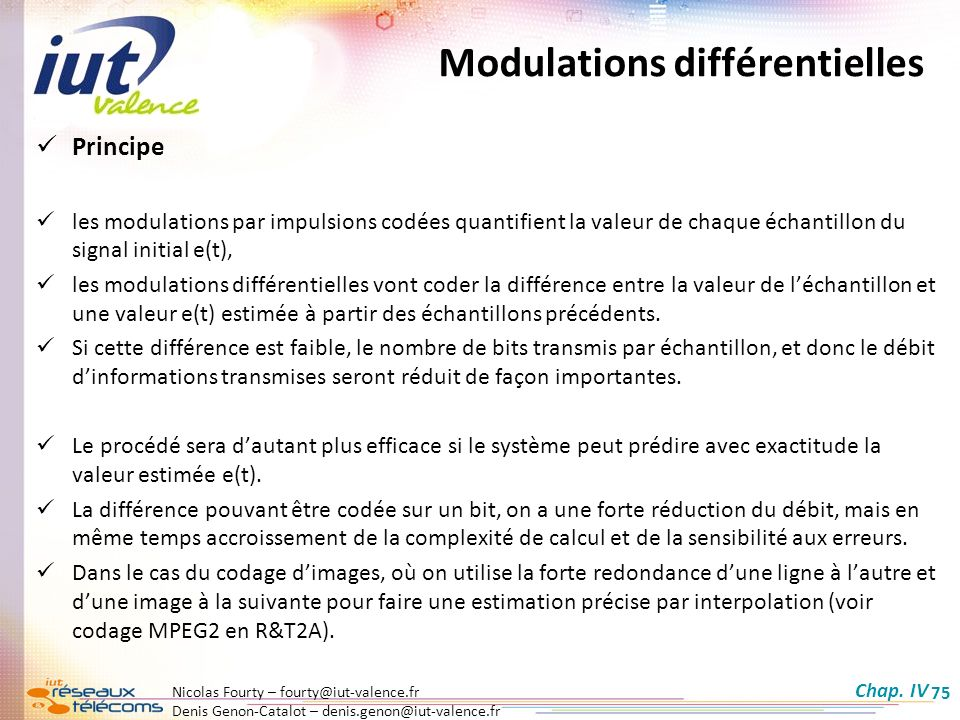 Modulations différentielles