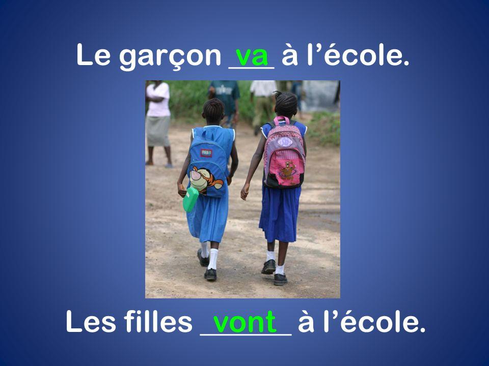 Les filles ______ à l'école.