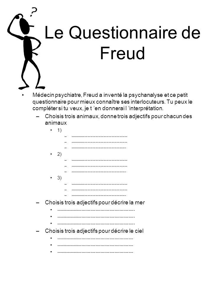 Le Questionnaire de Freud
