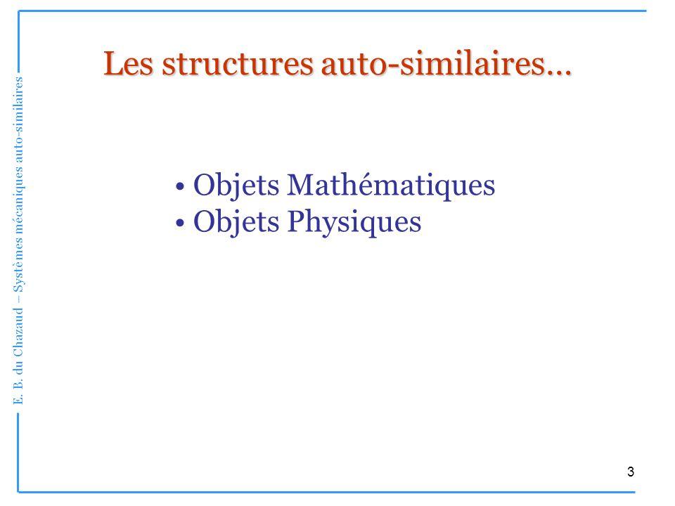 Les structures auto-similaires…