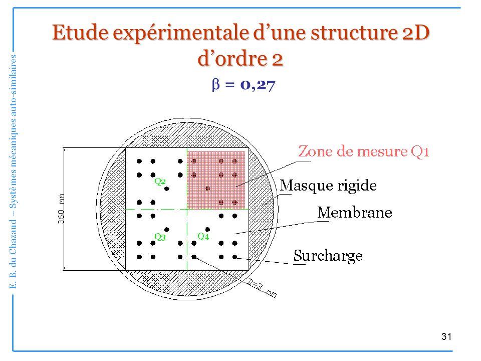 Etude expérimentale d'une structure 2D d'ordre 2