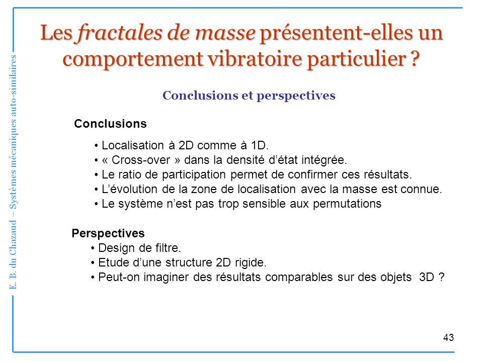 Les fractales de masse présentent-elles un comportement vibratoire particulier