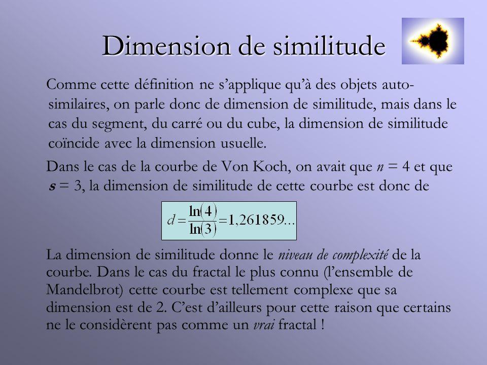 Dimension de similitude