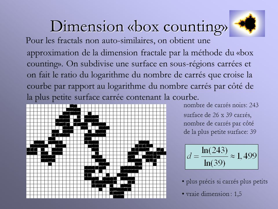 Dimension «box counting»