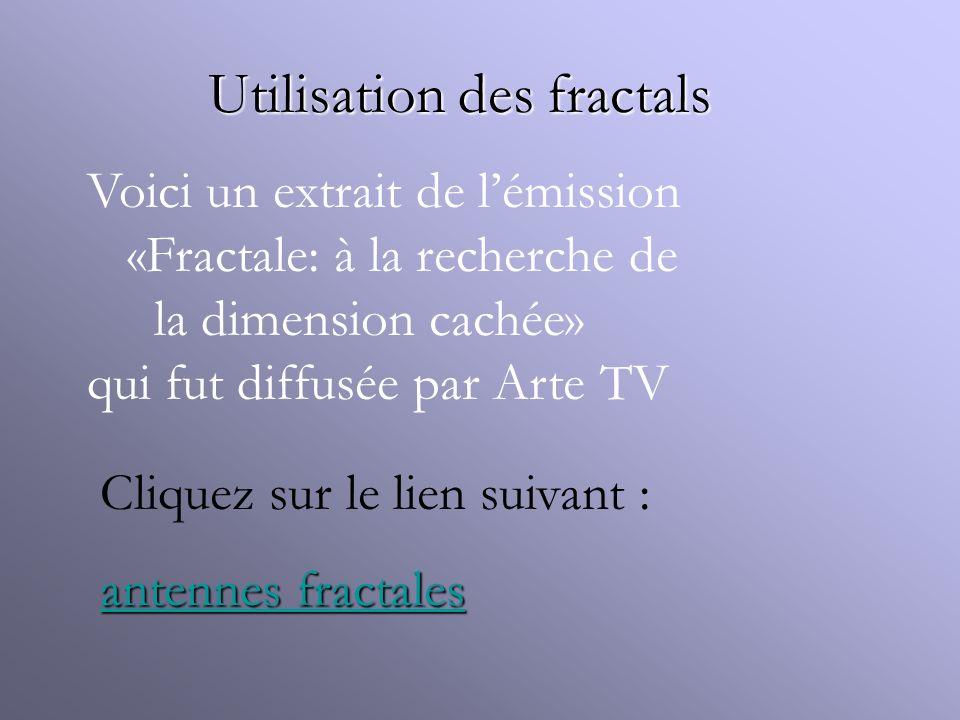 Utilisation des fractals