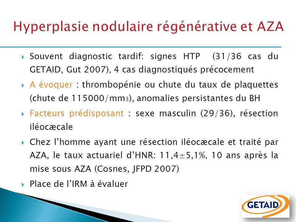 Hyperplasie nodulaire régénérative et AZA